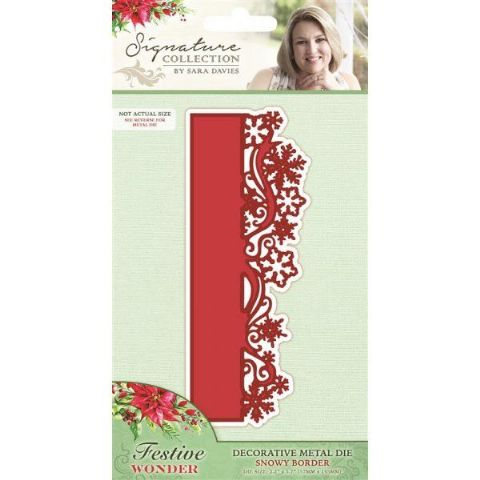 Sara Signature Festive Wonder Collection - Snowy Border Die